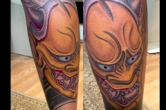 Hannya leg in gold